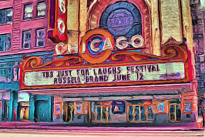Painting - Chicago Theater - 20 by Ely Arsha