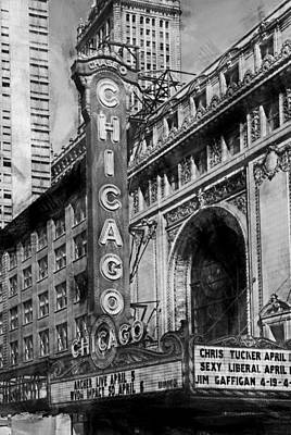 Wild And Wacky Portraits Rights Managed Images - Chicago Theater 5599 Rough Charcoal Sketch HP Royalty-Free Image by David Lange