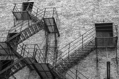 Photograph - Chicago Theater Fire Escape  by John McGraw