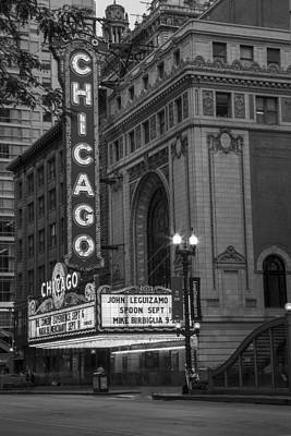 Photograph - Chicago Theater In Black And White  by John McGraw