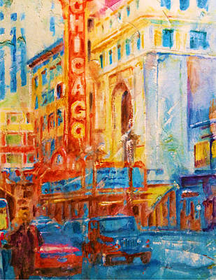 Chicago Theater Mixed Media - Chicago Theater by Joe Pas