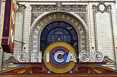 Photograph - Chicago Theater Marquee by Frozen in Time Fine Art Photography