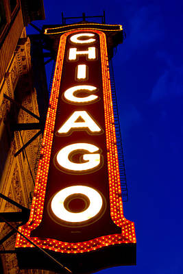 Photograph - Chicago Theater Sign by John McGraw