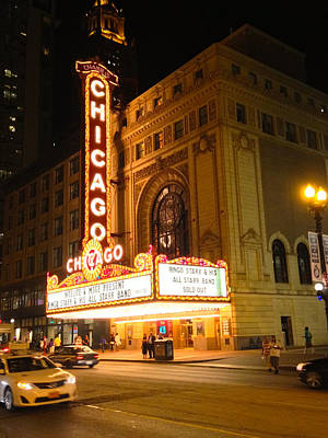 Photograph - Chicago Theatre And Ringo Starr by Alan Lakin