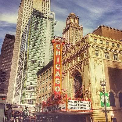 City Scenes Photograph - Chicago Theatre #chicago by Paul Velgos