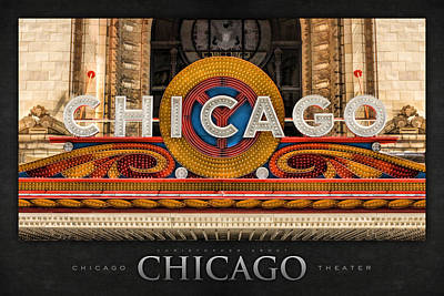 Painting - Chicago Theatre Marquee Sign Poster by Christopher Arndt