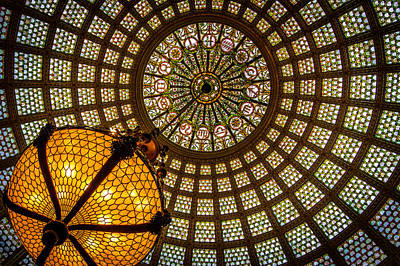 Glasswork Photograph - Chicago Tiffany Dome by Mike Burgquist