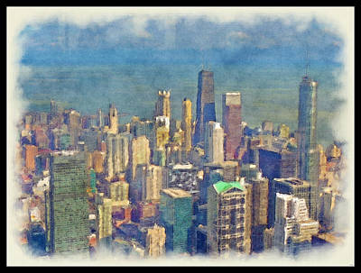 Digital Art - Chicago... by Tim Fillingim