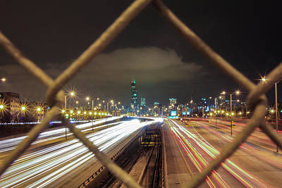 Photograph - Chicago Long Exposure by John McGraw