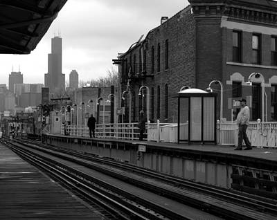 Photograph - Chicago Train Station by Frank Winters