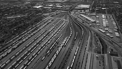Chicago Transportation 02 Black And White Print by Thomas Woolworth