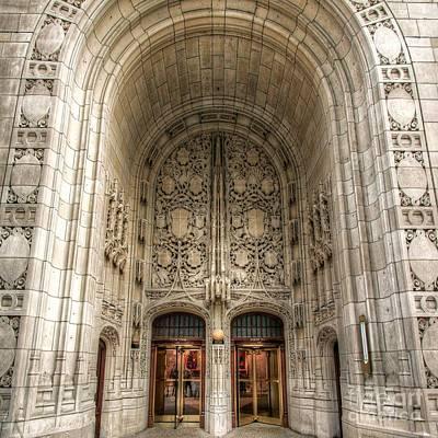 Photograph - Chicago Tribune Doors by John December