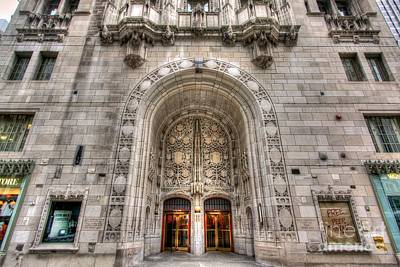 Photograph - Chicago Tribune Entrance And Doors by John December