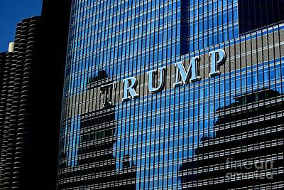 Frank J Casella Royalty-Free and Rights-Managed Images - Chicago Trump by Frank J Casella