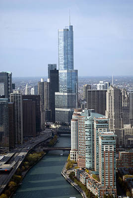 Central Il Photograph - Chicago Trump Tower by Thomas Woolworth