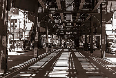 Photograph - Chicago Under The El  by John McGraw