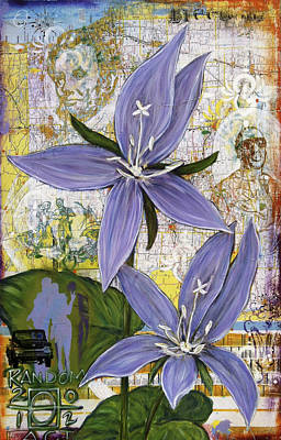 Chicago Violets Art Print by Andrea LaHue aka Random Act