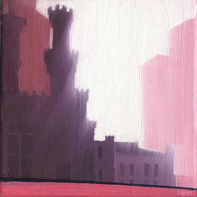 Chicago Landmark Painting - Chicago Water Tower 61 Of 100 by W Michael Meyer