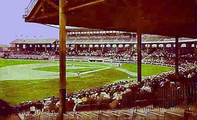Chicago White Sox Ballpark Stadium Around 1920 Art Print by Dwight Goss
