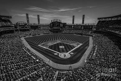 Photograph - Chicago White Sox Black And White by David Haskett II