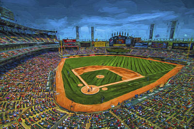 Chicago White Sox Painted Digitally Us Cellular Field Art Print