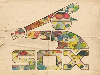 Bat Painting - Chicago White Sox Vintage Poster by Florian Rodarte