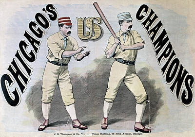 Batter Painting - Chicago White Stockings by Granger