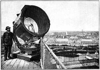 Chicago World Fair Searchlight, 1893 Art Print by Science Photo Library