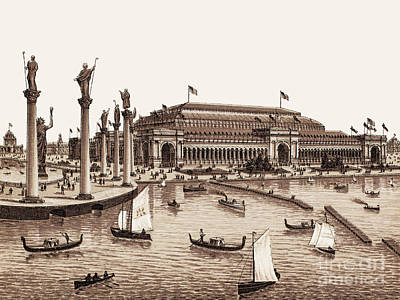 Photograph - Chicago - World's Columbian Exposition 1893 - Manufacturers And Liberal Arts Building by Barbara McMahon