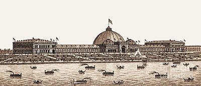 Photograph - Chicago - World's Columbian Exposition 1893 - The Horticultural Building by Barbara McMahon