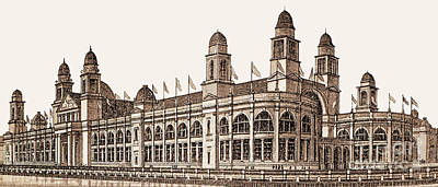 Photograph - Chicago - World's Columbian Exposition - Building Of Electricity And Electrical Appliances by Barbara McMahon