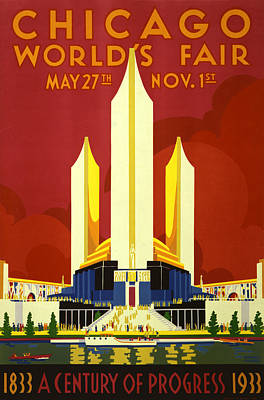 Chicago World's Fair Art Print by Georgia Fowler