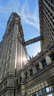 Photograph - Chicago Wrigley Building 1 by Anita Burgermeister