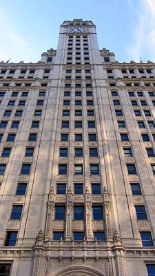 Photograph - Chicago Wrigley Building 4 by Anita Burgermeister