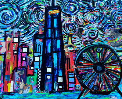 Navy Pier Mixed Media - Chicagoland by Monica Zanetti