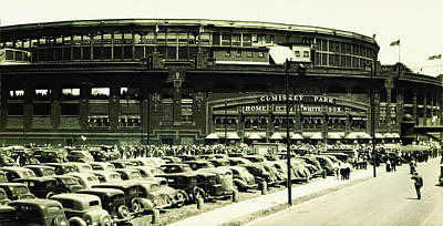 White Sox Digital Art - Chicago's Comiskey Park by Bill Cannon