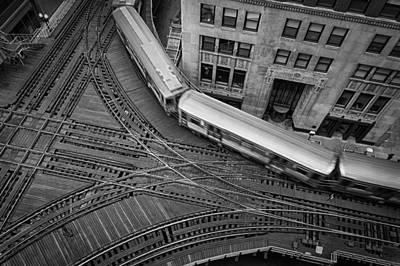 Chicago's Cta Train Art Print by Mike Burgquist