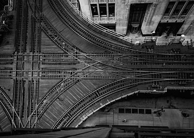 Chicago's Elevated Intersection Art Print by Mike Burgquist