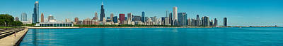 Chicago Photograph - Chicago's Lakefront Panorama by Kevin Eatinger