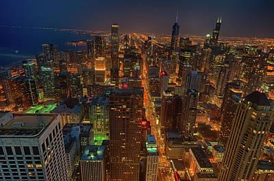 Chicagos Magnificent Mile Art Print