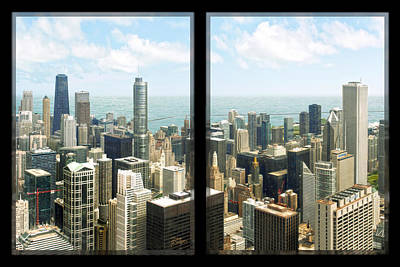 Stone Buildings Digital Art - Chicago's Tallest by Doug Kreuger