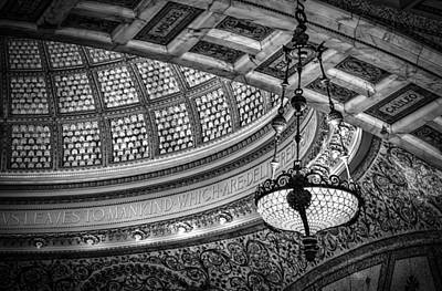 Glasswork Photograph - Chicago's Tiffany Dome by Mike Burgquist