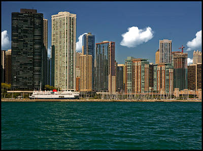 Photograph - Chicago's Waterfront Skyline From Lake Michigan by Ginger Wakem