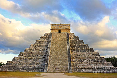 Photograph - Chichen Itza Clouds by Charline Xia