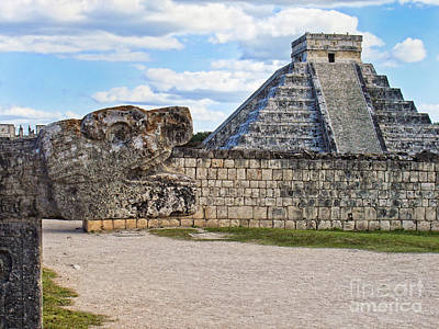 Chichen Itza - Mexico. View On El Castillo Pyramid. Art Print by Renata Ratajczyk