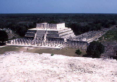 Photograph - Chichen Itza - Temple Of The Warriors by Robert  Rodvik
