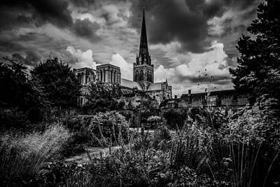 Photograph - Chichester Cathedral And Garden by Chris Lord