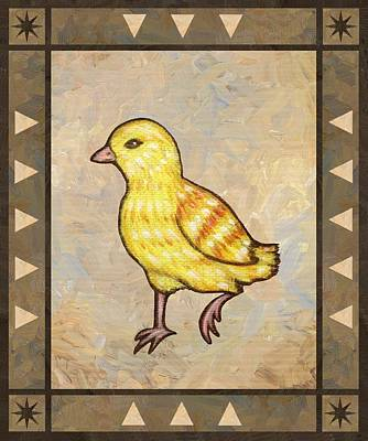 Chickens Painting - Chick Two by Linda Mears