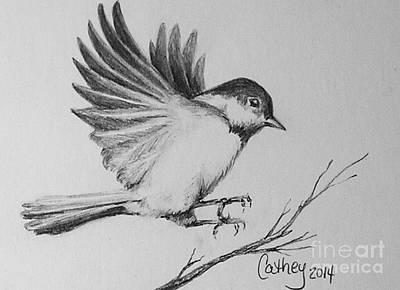Chickadee Drawing - Chickadee by Catherine Howley