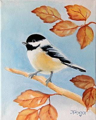 Painting - Chickadee by Inese Poga